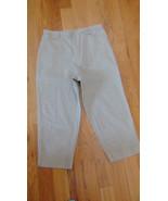 Pants Capri's White Stag Size 14-Khaki Color-Pocket Each Side-1 On Back-... - $14.84