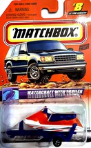 Matchbox Series 2 Car #8-Watercraft With Trailer.Collectible - $20.00