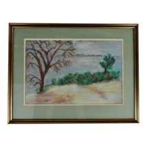 Vintage Framed Pastel Landscape Drawing - $195.00