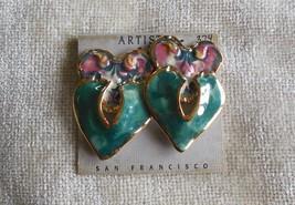 Artists Choice Vintage Handcrafted Artisan Earrings Wearable Art  - $34.65