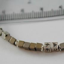 Pulsera Giadan de Plata 925 Hematites Lucida y 8 Diamantes Negros Hecho en Italy image 2