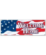 Jumbo Welcome Home Sign Banner Party Accessory 5 ft x 21 inch - $5.93