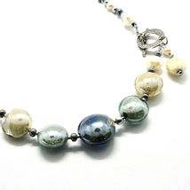 NECKLACE ANTIQUE MURRINA VENICE WITH MURANO GLASS BEIGE SAND GRAY COB14A06 image 4