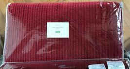 Pottery Barn Velvet Channel Quilt Set Ruby Red Queen 2 Standard Sham Christmas - $399.00