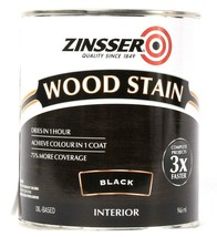 1 Can Zinsser 32 Oz Wood Stain 331484 Black Interior More Coverage Dries... - $21.99