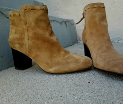 New VIA SPIGA Leather Suede Ankle Boot Mismatched L (23.7cm/7.5M) R (23.... - $73.87