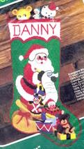 Vtg Bucilla Santas Surprises Christmas Longstitch Needlepoint Stocking K... - $124.95