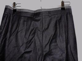 Escada Margaretha Ley Wool Dress Pants Dark Gray Pleated Tapered Leg 42 ... - $57.60