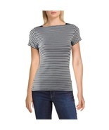 New Ralph Lauren Women's Top Black / White Striped Casual Blouse comfy s... - $32.99