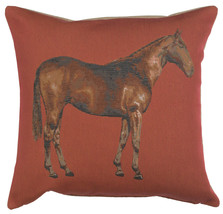 Horse Red 1 French Couch Cushion - $63.00