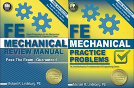 FE Mechanical Review Manual and Practice Problems 9781591264415 97815912... - $109.90