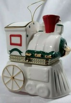 Mr. Christmas Hinged Box Gold & White Tree with Moving Train Music Box Ornament - $15.05