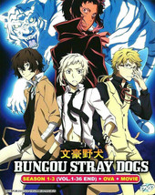 Bungou Stray Dogs COMPLETE Season 1-3 OVA Movie English Dub Ship From USA