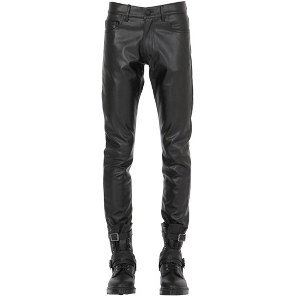 Classic Style Men Leather Pants