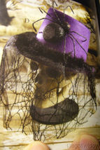 Bethany Lowe Halloween Purple Top Hat with Spider no. LO6459 image 4