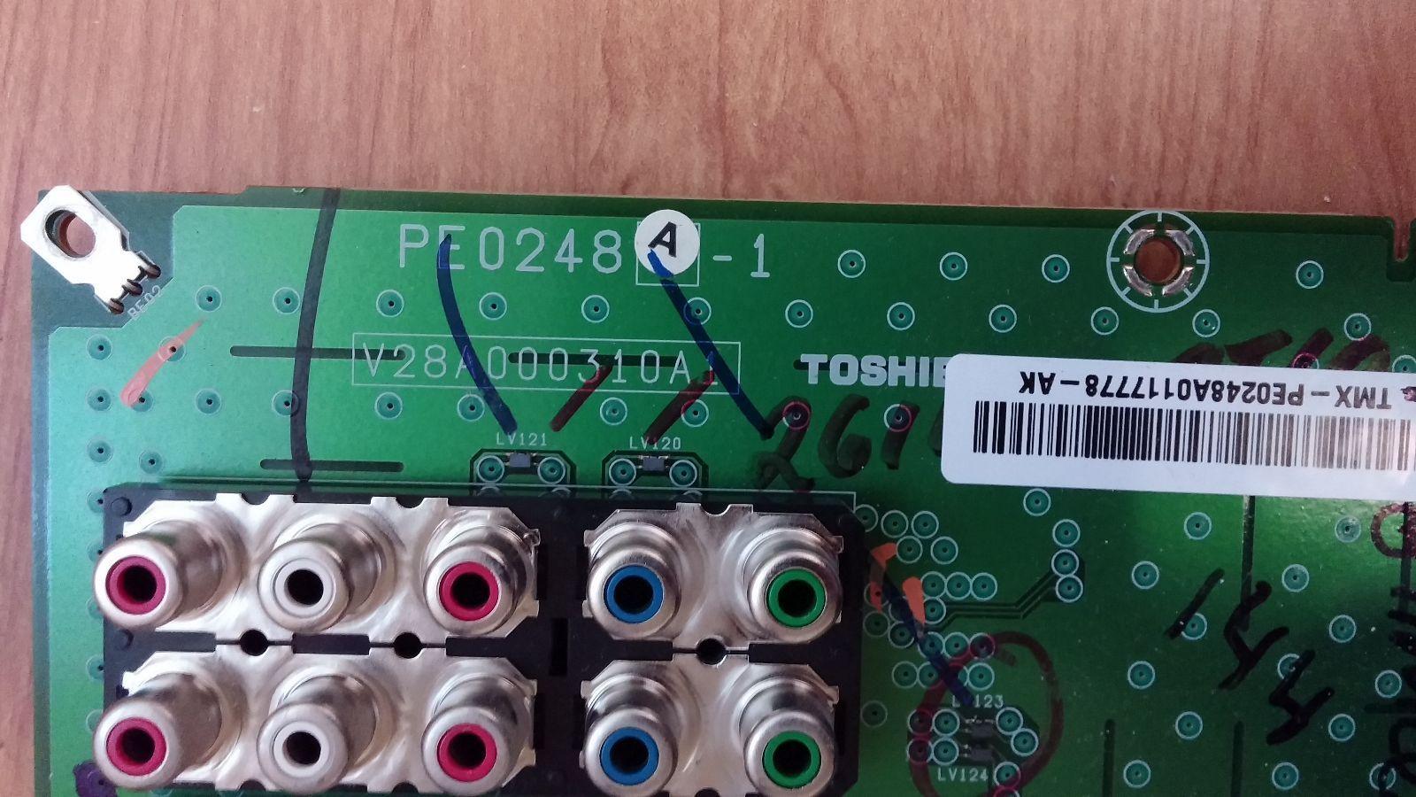 Toshiba 75005776 (PE0248A-1, V28A000310A1) AV Board