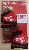 Milwaukee 16 ft. Compact Tape Measure - Pack of 2 - $34.60