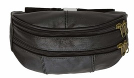 Slim Genuine Leather Waist Pouch Fanny Pack Multiple Colors - $9.99