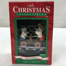 Gibson Christmas Collectibles train holiday ornament train in box 1997 - $4.69