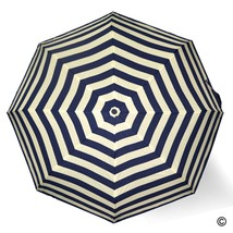 Anti UV Windproof Umbrellas Foldable for Easy Carrying - Blue and White