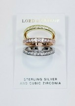Lord & Taylor Sterling Silver Cubic Zirconia Ring sz 8 - $14.30