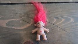 Vintage Pencil Top Troll Red Hair - $17.23