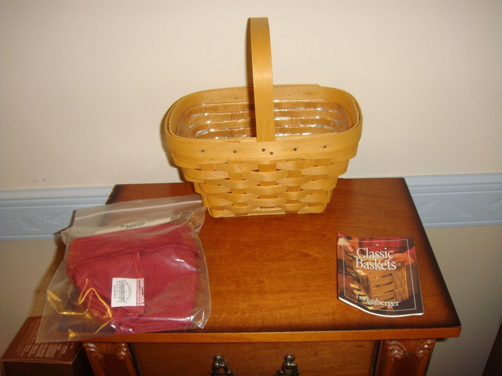 Primary image for Longaberger Small Comfort Basket, Liner, & Protector