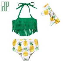 Infant Baby girl swimwear Tassels unicorn Pinapple Bowknot kids swimwear... - $18.20