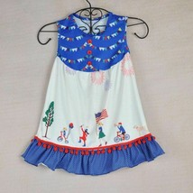 NEW Boutique 4th of July Parade Fireworks Girls Patriotic Americana Dress  - $19.99