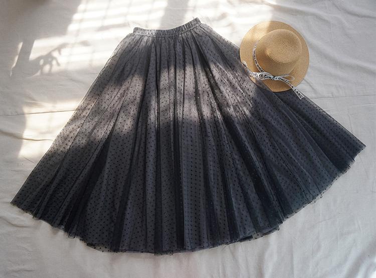 Gray tulle skirt midi 10