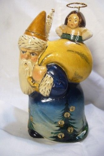 Vaillancourt Father Christmas with Angel Signed by Judi Vaillancourt