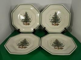 Nikko CHRISTMASTIME Dinner Plate (s) LOT OF 4 Christmas Tree Pattern Oct... - $39.55