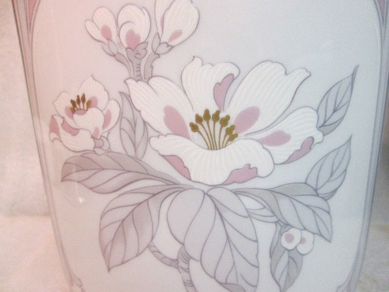 Fine Kaiser German Porcelain DESIGNER Vase Chantal by K. Nossek Pink & Gray VTG!