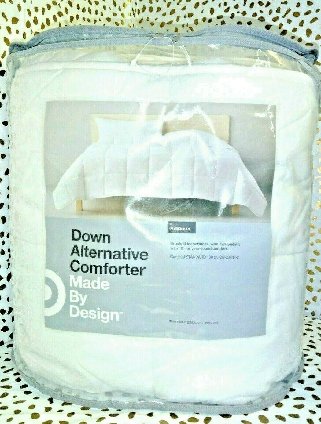 "White Solid Down Alternative Comforter Full/Queen Made by Design 90"" x 94"" SEAL"