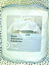 "White Solid Down Alternative Comforter Full/Queen Made by Design 90"" x 94"" SEAL  image 1"