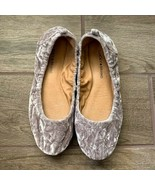 Lucky Brand | Taupe Silver Crushed Velvet Ballet Flats Size 10 - $16.83