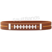 1 Football Silicone Wristband featuring Debossed Color Filled Design - $1.86