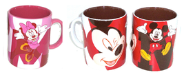 Disney Store Minnie Mouse Mickey Mouse Coffee Mug Pink Red New - $63.99