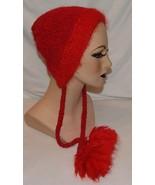 Brooklyn Handknit Bonnet en Maille Femmes Douce Rose-Rouge Panaché Pom C... - $23.71