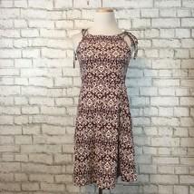 Topshop Women's Maroon Floral Cutout Spaghetti Strap Summer Dress Size 4 - $21.59