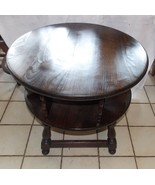 Pine Ethan Allen Old Tavern Round Swivel Lamp Table - $399.00