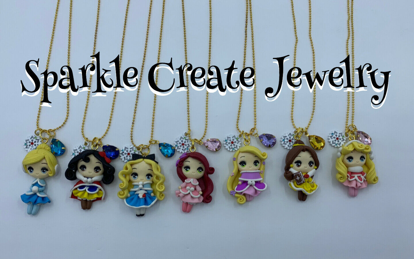 LIMITED EDITION: Winter Princess Clay Charm Necklace