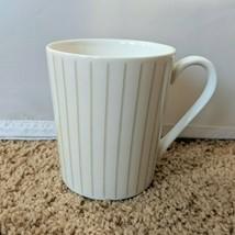 Mikasa Cheers Diamond Coffee Tea Mug Cup White Porcelain 12 oz HK278 - $9.74