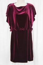 Jessica Simpson Dress Sz 8 Rhododenron Burgundy Velvet Cocktail Party Dress - $19.71