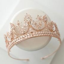All Cubic Zirconia Tiara Bride Zirconia Luxury Crown Jewelry Headband Ha... - £76.89 GBP