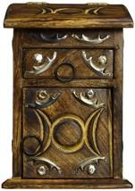 Wooden Herb Cupboard Storage System Drawer Holder Box Spiritual Goddess NEW - $43.66