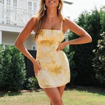 Women's  Trendy Floral Tie Dye Boho Beach Mini Sundress image 4