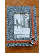 """Threshold 4 x 6 """" Photo Frame. Black and White With Strap Detail - $8.99"""