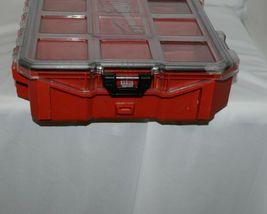 Milwaukee 48228030 Job Site Organizer Weather Seal 10 Bins Red Clear Lid Box image 4
