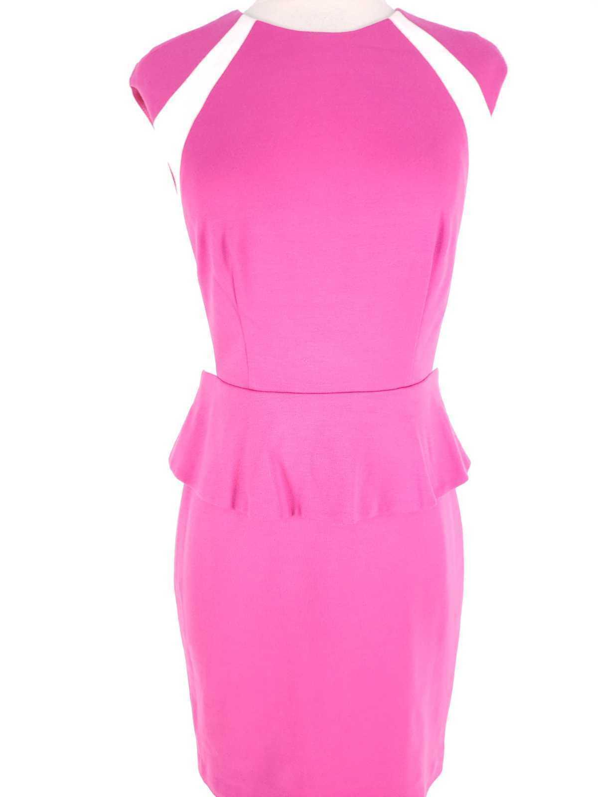 Cynthia Steffe Women Dress Size 2 NWT $198 Peplum Pencil Ponte Knit Sleeveless image 2